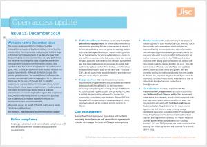Jisc OA Digest December 2018-cover image