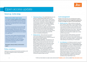 Jisc June OA digest - image of first page