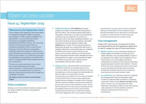 Sept 2019 Jisc OA update - image of first page